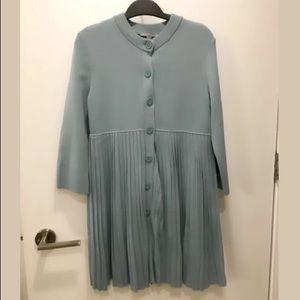 💕 COS Pleated Mini Sweater Dress Light Blue XS